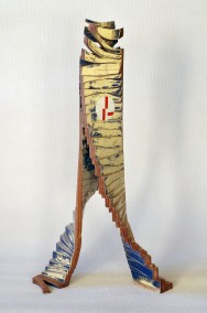 ARCHAEOLOGICAL NW (Plywood construction, enamel and oil, 69.5cm x 36.5cm x 27cm, Dirk Marwig 2012)