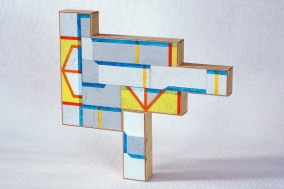 ARQUITECTURA PRIMITIVA Object  (Plywood Construction and oil, 37.3cm x 38.7cm x 3.7cm, Dirk Marwig 2011)