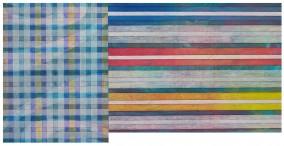 FLAG  (Oil and ink on Japan-paper, 31.5cm x 64cm, Dirk Marwig 2010)