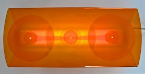 FLOW LIGHT OBJECT (Plexi-Glass, fluorescent light, 34cm x 75cm x 13cm, Dirk Marwig 1997)
