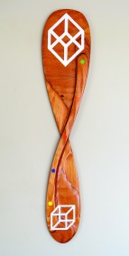 NONRONG™ Diplomat (Plywood, oil, 70cm x 16cm x 1.5cm, Dirk Marwig 2007)