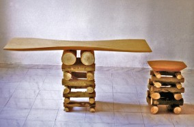 TABLE AND STOOL 1995