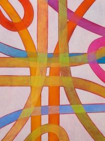Loose    (Oil on 'Japan-paper', 32cm x 23.5cm, Dirk Marwig 2007)