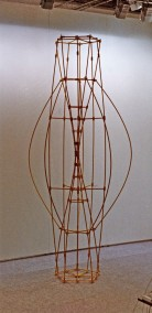 "Wooden object""Untitled"" 1996  (298cm x 140cm x 140cm,Shown at Art Frankfurt 1996)"