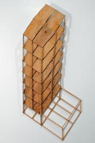 """El Cheapo's"" Fuck'em Construction (Ceder wood scraps,75cm x 31cm x 4.5cm,Dirk Marwig 2013)"