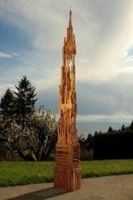 La Gloriosa    (Douglas Fir,wood glue, 227.5cm x 28cm x 18cm, Dirk Marwig 2013)