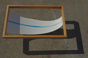 Very Deep (–photographed on patio with sunlight–Oak,plywood,enamel+resin,42.7cm x 68.7cm x 19.7cm,Dirk Marwig 2013)