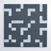 Floor Plan A  (Acrylic on Wood panel, 53.5cm x 53.5cm, Dirk Marwig 2013)