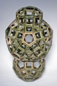 Geometrix One (Bamboo and Zap-strap construction, 86.2cm x 52cm x 52cm,  Dirk Marwig 2013)