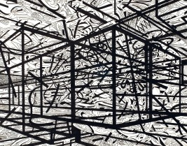 El Mundo Fantastico (Archival ink on thick drawing paper, 27.8cm x 35.5cm, Dirk Marwig 2013)