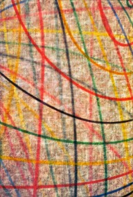 'Lines' Painting No.3 (Oil on burlap, 140cm x 100cm, Dirk Marwig 1996) -older work-