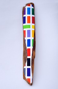 Design for Silk Leggings  (Oil on driftwood, 122cm x 19.5cm x 8.5cm, Dirk Marwig 2007)
