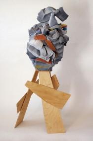 Wanna Dance?  Quieres Bailar?  (Foam Rubber, glue ,gesso, oil and plywood, 107cm x 45cm x 45cm, Dirk Marwig 2014)