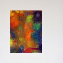 Resonance (Oil on Japan-Paper mounted on white plywood square, 48.3cm x 48.3cm, Dirk Marwig 2011)