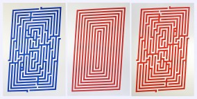 Amaze 2015 and Simplex Combination ( 3 Wood Block Prints, 76.3cm x 145.8cm, Dirk Marwig 2015)