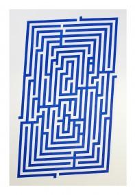 Amaze 2015 (Wood block print,  76.3cm x 48.6cm, Dirk Marwig 2015 )