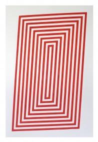 Simplex  (Wood block print,  76.3cm x 48.6cm, Dirk Marwig 2015 )