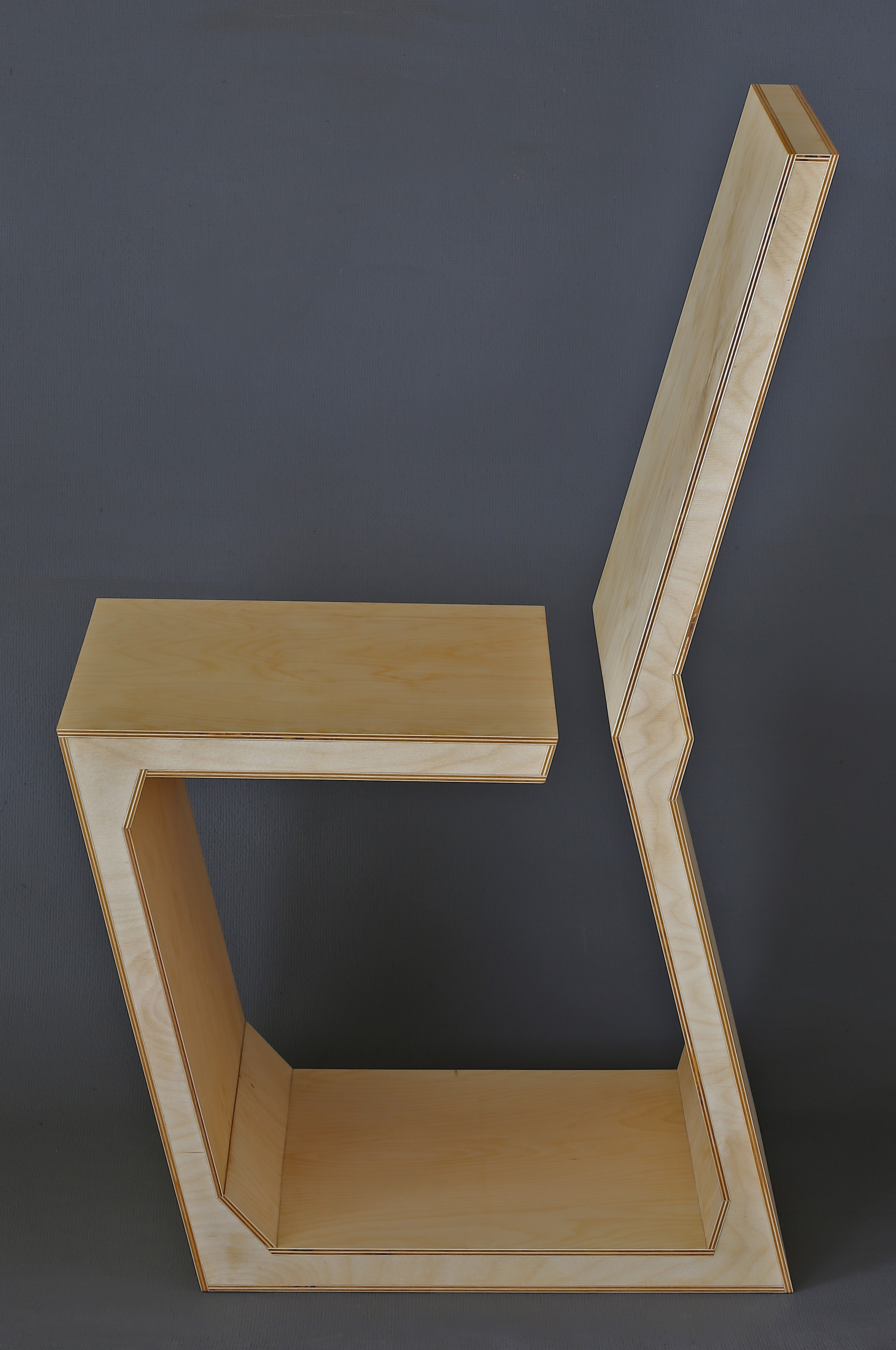 Dirk Marwig U201cGAP CHAIRu201d 2015 (High Density Plywood, Wood Glue And Wood Oil,  92.5cm X 42.8cm X 59cm, Dirk Marwig 2015)