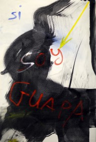 Si Soy Guapa (Ink and oil on canvas, 91cm x 60.8cm, Dirk Marwig 2016)