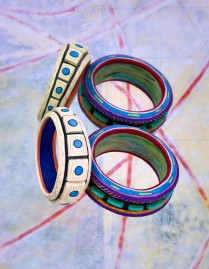 2 FIMO Bracelets from 1987 (Dirk Marwig, New York City, 1987)