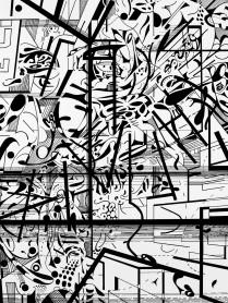 Rhythm (Archival ink on drawing paper, 30.5cm x 22.9cm, Dirk Marwig 2018)